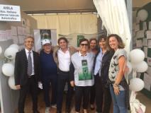 Saccardi allo stand Aisla (ph comunicato)
