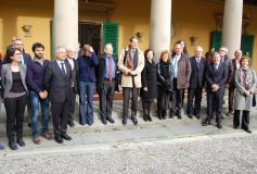 Parlamentari tedeschi in visita all'ostello di Camerata