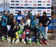 Il podio del Super gigante Trofeo Toscananeve/Trofeo Budget