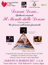 Locandina iniziativa 'Donna Dona…Il mondo delle Donne'