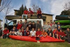 Gli atleti della Canottieri Comunali nel Trofeo Bianconi di canoa discesa