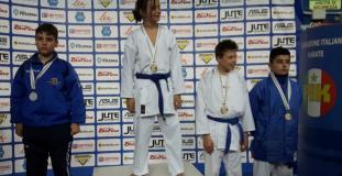 Podio ai campionati della Federazione Italiana Karate