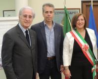 Da sinistra Franco Torrini Paolo Mangini e Maria Federica Giuliani