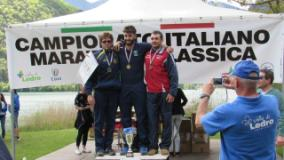 Podio campionati italiani di canoa maratona