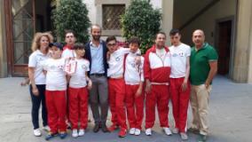 I ragazzi Special della Canottieri Firenze in Palazzo Vecchio