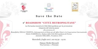L'invito-save the date per il Primo Roadshow 'Città Metropolitane'