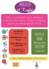 A Fucecchio cena a sostegno dello sportello antiviolenza associazione Frida