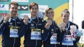 Mondiali nuoto: Giani, bronzo staffetta a forti tinte toscane