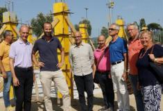 L'assessore Vannucci con il presidente del quartiere 3 Esposito visitano il cantiere del nuovo campo sportivo a Firenze sud Anconella