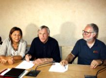 Don Ciotti alla conferenza stampa