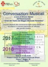 Volantino 'Conversazioni musicali' a Brozzi
