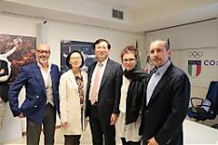 Ambasciatore Coreano a Firenze per premiare il Centro Taekwondo (foto Antonello Serino - Met)