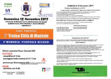 Locandina evento sportivo a Montale