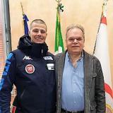 Jacopo Luchini con il sindaco Mauro Lorenzini