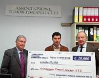 La Fondazione Biagioni Borgogni Onlus dona 20 mila Euro all'A.T.T
