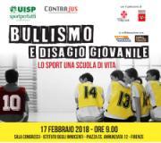 Locandina convegno 'Bullismo e disagio giovanile: lo sport una scuola di vita'
