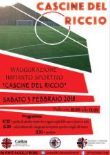 Locandina inaugurazione campo sportivo Cascine del Riccio