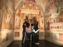 alcuni ragazzi della Casa di Ventignano in visita al Museo Benozzo Gozzoli (Fonte foto comunicato)