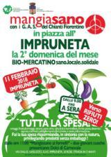Locandina Bio-mercatino Mangiasano all'Impruneta