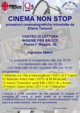 Volantino Cinema non stop a Brozzi