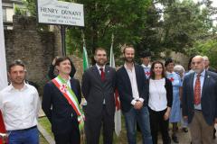 Cerimonia intitolazione giardino al fondatore della Croce Rossa Henry Dunant