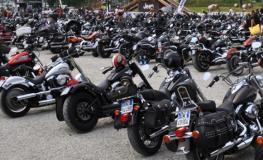 Raduno delle Harley Davidson a Montecatini