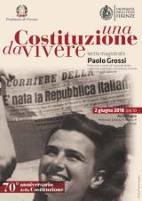 """2 giugno, Festa della Repubblica Paolo Grossi nell'Aula Magna dell'Università Lectio magistralis """"Una Costituzione da vivere"""""""