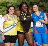 Podio campionati italiani juniores lancio del peso