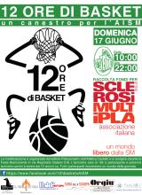 Un canestro per l'AISM - 12h di Basket