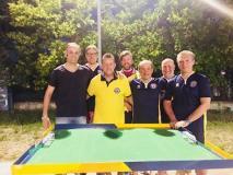 da sinistra: Vincenzo Santaniello, Ali Nasrì, Fabio Pasquini, Bruno Esposito, Giuseppe Zaccardo (coach e capitano) Simone Squarzolo e Nicola Dragoni