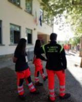 Volontari di protezione civile a Scandicci