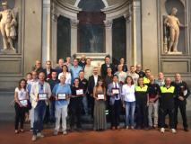 Premiati in Palazzo Vecchio i partecipanti all'esercitazione 'Ema-Greve 2018'