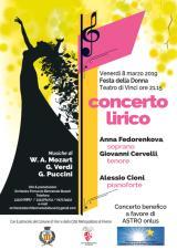 Locandina concerto Festa della Donna 8marzo