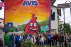 Il murales dell'Avis a Lazzaretto (foto da comunicato)