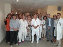 Foto di gruppo con Assessore Saccardi e Direttore sanitario Emanuele Gori