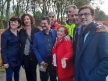 I Sindaci e i rappresentanti istituzionali all'inaugurazione dei lavori