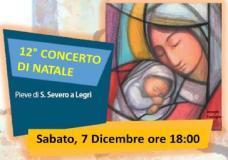Locandina Concerto di Natale della Misericordia di Legri