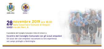 Il Consiglio Comunale di Empoli incontra gli Scout empolesi